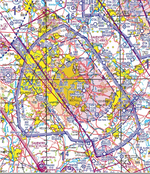 Chart changes to help cut airspace infringements in Birmingham Control Terminal